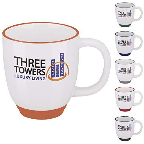 Tone Mug Two Bistro (Good Value Two-Tone Bistro Mug - 14 oz. White/Black 1008 Pack)