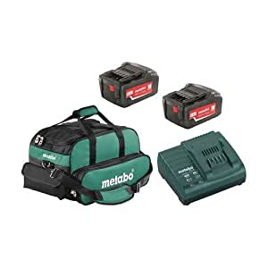 Metabo US625596252 18V Lithium-Ion Battery Pack and Charger Kit