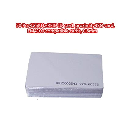 50 pcs 125 kHz RFID tarjeta de identificación, tarjeta de ...