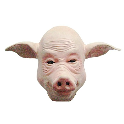 Halloween supplies prom party COS mask, pig head mask, animal mask,Halloween Latex Pig Evil Unicorn Face Mask