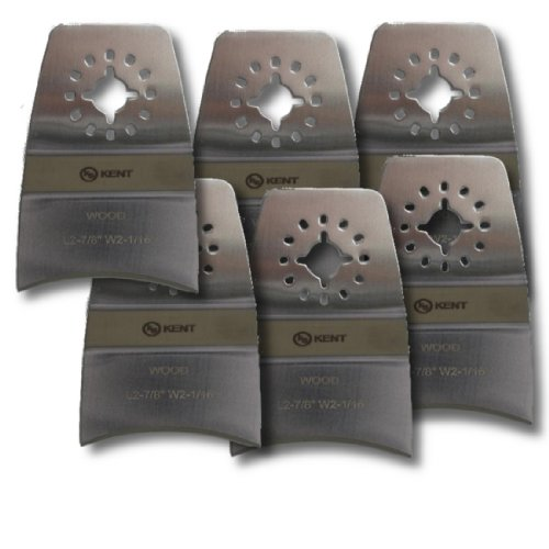 KENT, 6 Concave Stainless Oscillating Blades, For Scraping: Paint, Grout, Caulking, Fits Fein Multimaster, FMM250Q, Bosch, Chicago, Secco, Milwaukee - Oscillating Tool Caulking