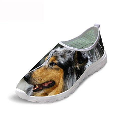 テレビオプショナル労働ThiKin スポーツシューズ メッシュ シューズ 通気 軽量 犬 柄 レディース メンズ トラベル ランニングシューズ 3Dプリント クッション性 カジュアル 靴 おしゃれ ファッション 通勤 通学 プレゼント