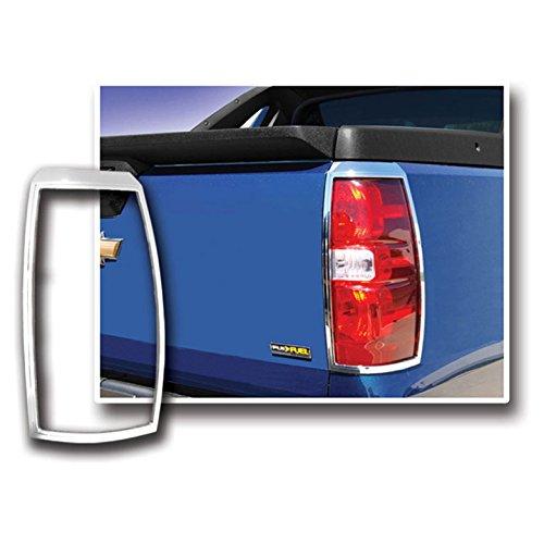 Premium FX Chrome Tail Light Bezels for 2007-2013 Cadillac Escalade EXT (Cadillac Escalade Ext Pickup)