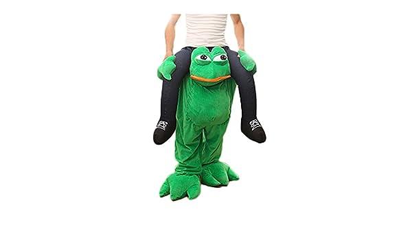 Amazoncom Rushopn Piggy Back Frog Carry Me Sad Frog Mascot