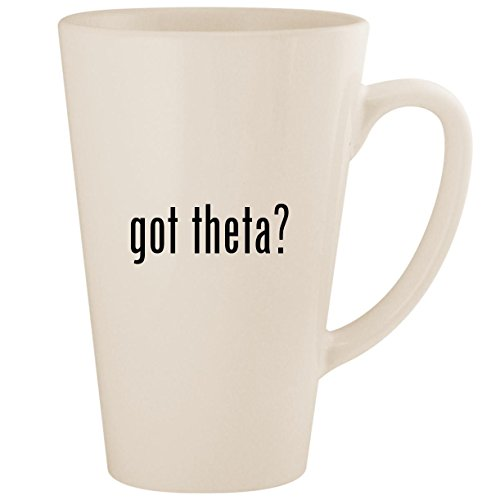 got theta? - White 17oz Ceramic Latte Mug Cup