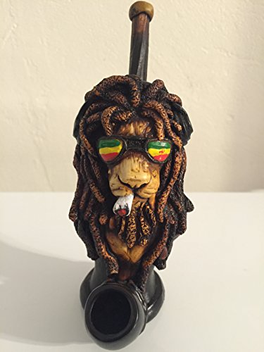 (Handmade Tobacco Pipe, Marley Lion Head)