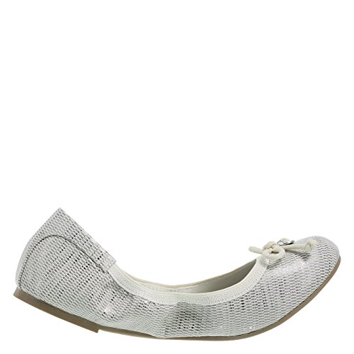 dexflex Comfort Womens Caroline String Tie Flat Tan Silver Tz8H9V