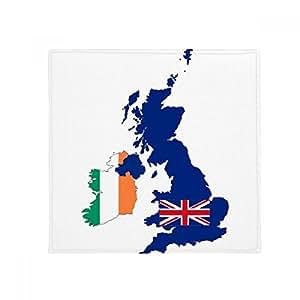 Mapa de Gran Bretaña Irlanda bandera País UK antideslizante alfombra Pet Square baño salón cocina puerta 60/50cm regalo