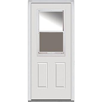 Bon National Door Company Z000766R Steel Primed, Right Hand In Swing, Prehung Front  Door