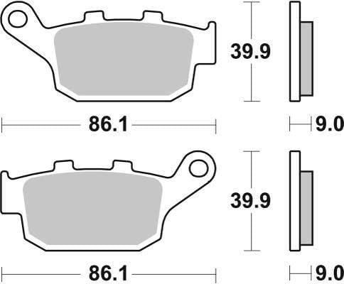 Honda CBR 650 F ABS CBR650F ABS 14 15 16 17 18 19 SBS Performance Rear Ceramic Brake Pads Set Genuine OE Quality 881HF