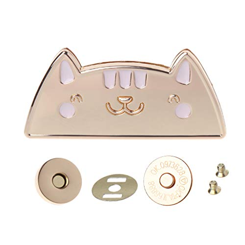 Rockrok Cat Magnetic Clasp DIY Purse Bag,Fastener Snap Button Press Studs Lock