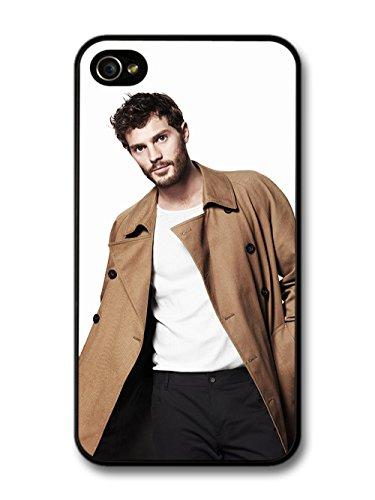 Christian Grey Jamie Dornan Posing in Brown Coat coque pour iPhone 4 4S