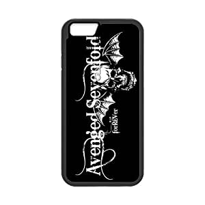 Protective TPU Rubber Coated Case Cover for iPhone 6 - A7X Avenged Sevenfold