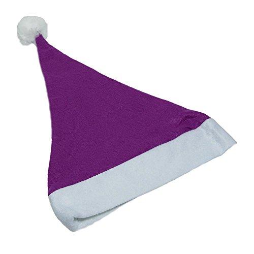 Purple Felt Santa Hat (Purple Christmas Hat)