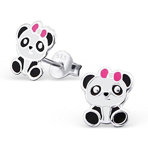 So Chic Bijoux © Enfant Boucles d'oreilles Panda Email Argent 925