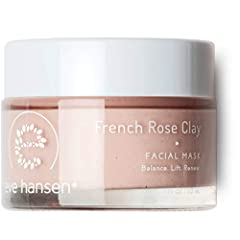 Eve Hansen's rose hip seed oil french clay rose face mask is a great addition to your skincare routine. Facial clay face mask works to exfoliate, polish, refine, and soften sensitive skin. Its mild formula does not dry skin out making it an a...