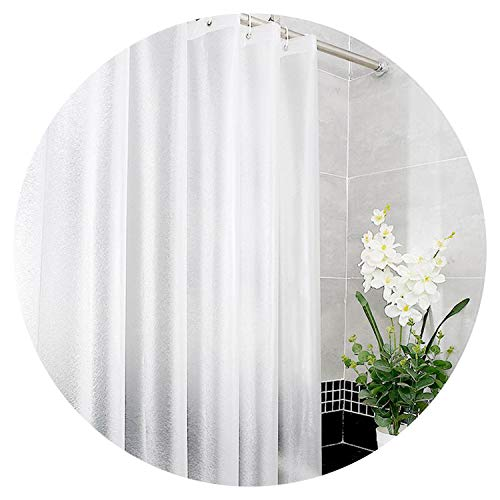 Frosted Matte Silk Translucent Shower Curtain Thick 3D Bath Curtains Waterproof Bath Screen for Bathroom,180220cm