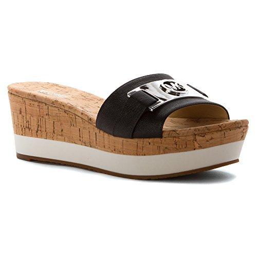Michael Michael Kors Womens Warren Platform Open Toe Casual Slide Sandals (9 B(M) US, Black)