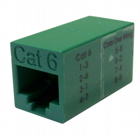 Cable Wholesale Cat6 Crossover Utp Inline Coupler, Green (30x8-33500) -