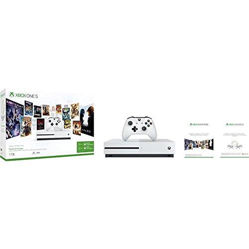 Xbox One S - 1TB - 3 Meses Live Gold - 3 Meses de Gamepass