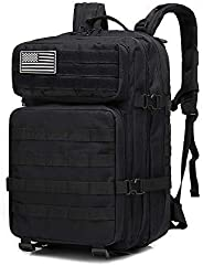 Tactical Backpack 45L Large Capacity Multiple Pockets Backpack Nylon 900D Waterproof Backpack for Men and Wome