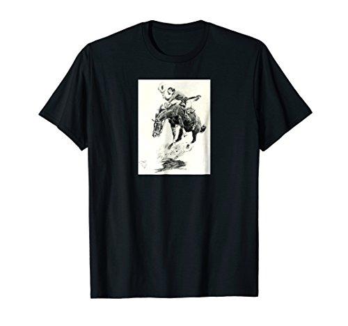 Mens Rodeo Cowgirl T-shirt riding bucking horse Small (Bucking Horse)