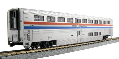 Kato USA Model Train Products Amtrak Phase III Superliner Coach