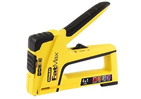 Stanley FatMax TR400 Handtacker und Nagler 4-in-1 (fü r Stifte/Nä gel/Feindrahtklammern/Rundklammern) FMHT6-70411 + Tackerklammern (Typ G 11, 10mm, 1000 Stü ck)