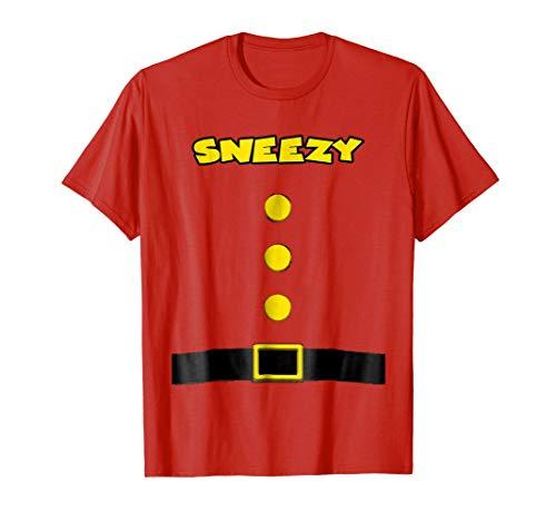 Sneezy Dwarf Halloween Costume Sneezy Dwarf T-shirt Sneezy