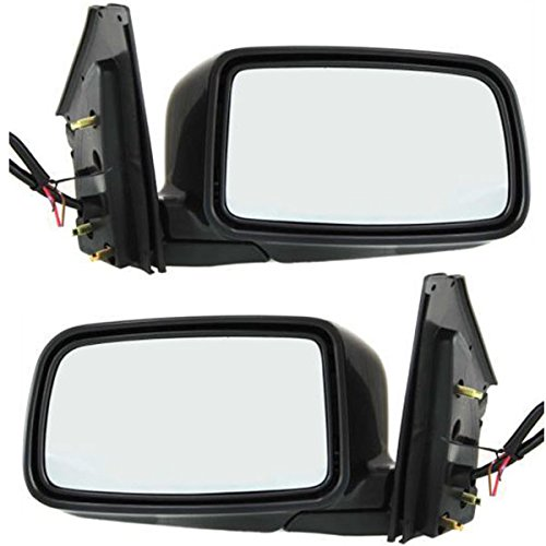 2002-2007 Mitsubishi Lancer ES & LS (excluding Evo Models) 4-Door Sedan Power Black paint to match Folding Rear View Mirror Set Pair: Right Passenger AND Left Driver Side (2002 02 ()