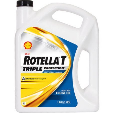 Shell Rotella T 15W-40 Heavy Duty Diesel Oil, 2.5 gal. (Shell Rotella T 15w40)