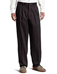 dockers Pantalones elásticos para Hombre, Ajuste Relajado, Color Caqui Lux algodón elástico – Plisado