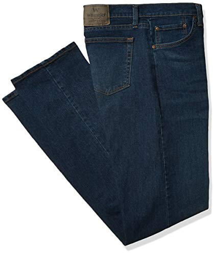 Wrangler Authentics Men's Classic Relaxed Fit Flex Jean, Flex Dark, 42W x 34L
