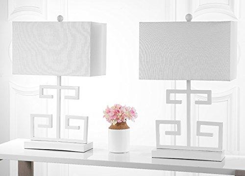 - Safavieh Lighting Collection Greek Key White 24-inch Table Lamp (Set of 2)