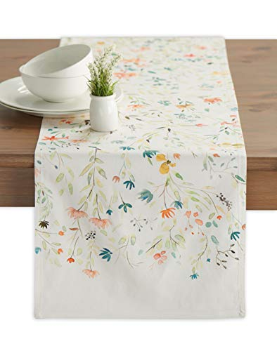 Maison d' Hermine Colmar 100% Cotton Table Runner 14.5 - inch by 72 - inch.]()