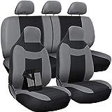 Motorup America Funda para asiento de coche, gris/negro – Juego completo – se adapta a vehículos seleccionados, coche…