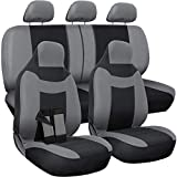 2003 lancer seat covers - Motorup America Leather Auto Seat Cover Full Set - Fits Select Vehicles Car Truck Van SUV - Gray & Black