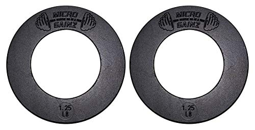 Micro Gainz 2.0 Olympic Fractional Weight Plate Sets of 2 Plates .25LB-1LB (Choose Set)-Designed for Olympic Barbells, Used for Strength Training and Micro Loading - 0.25 Barbell