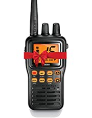 Uniden MHS75 Handheld Waterproof VHF Marine Radio, Black