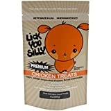 Lick You Silly Dog Treats Savory Chicken Bites (8 Ounce) – All-Natural USDA Inspected Freeze Dried Chicken – No Gluten, Grain and Wheat – Dog Training Treats and Pet Supplies