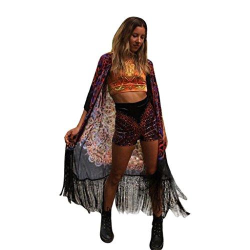 Pull Maille Femme Long Chandail Tricot Crochet Manche Longue Col V Cardigan Asymetrique Mi Long Casual Sweater Elegant Manteau Gilet Ouvert Outwear Blouson Sweatshirt Tunique Irrgulier