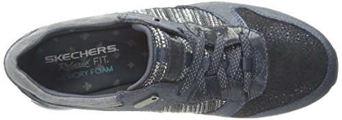 Moda Slicker Fancy de Deporte Skechers Zapatilla de Navy 8Uwq11v