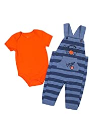 Disney Baby Boy's Tigger Overall/Creeper Set, Blue, 24M