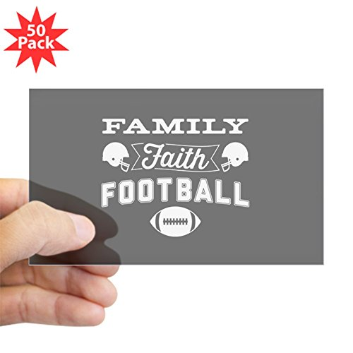 CafePress - Family Faith Football - Sticker (Rectangle 50 pk) by CafePress