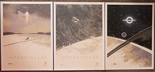 Amazon Com Interstellar Imax Limited Edition Original Not Reprints Promo Studio Movie Poster Set Of 3 Versions A B C 12 X 16 Posters Prints