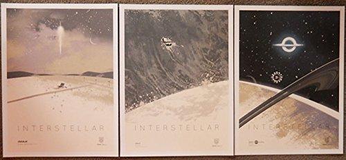 (Interstellar Imax Limited Edition Original Promo Studio Movie Poster Set of 3 Versions A,B,C 12