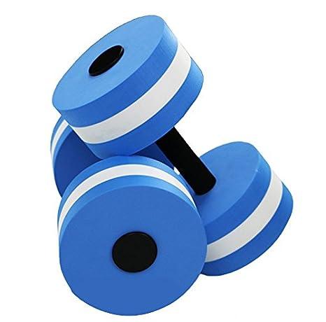 TechSmile - Juego de mancuernas de agua - Proporciona resistencia para ejercicios de aeróbicos y piscina, 1 par: Amazon.es: Deportes y aire libre
