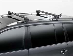 Original Volkswagen VW Piezas de repuesto Touran Rieles de techo original Soporte De Base Portaequipajes, negro