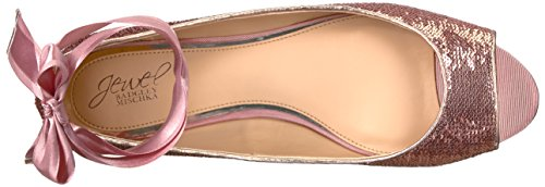Jewel Badgley Mischka Mujer Lorde Ballet Flat Rose Gold