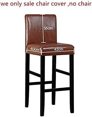 Seiyue Bar Stools Kitchen Furniture Breakfast Bar High Seat Chair Stool Cover (Only Cover,No Chair) (Gray)